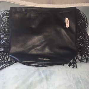 Victoria Secert Leather drawstring bag NWT